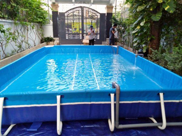 Hồ Bơi Khung Kim Loại Cho Trẻ Em 3,6m x 5,1m x 60cm 1