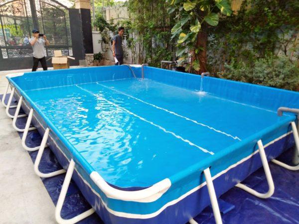 Hồ Bơi Khung Kim Loại Cho Trẻ Em 3,6m x 5,1m x 60cm 2