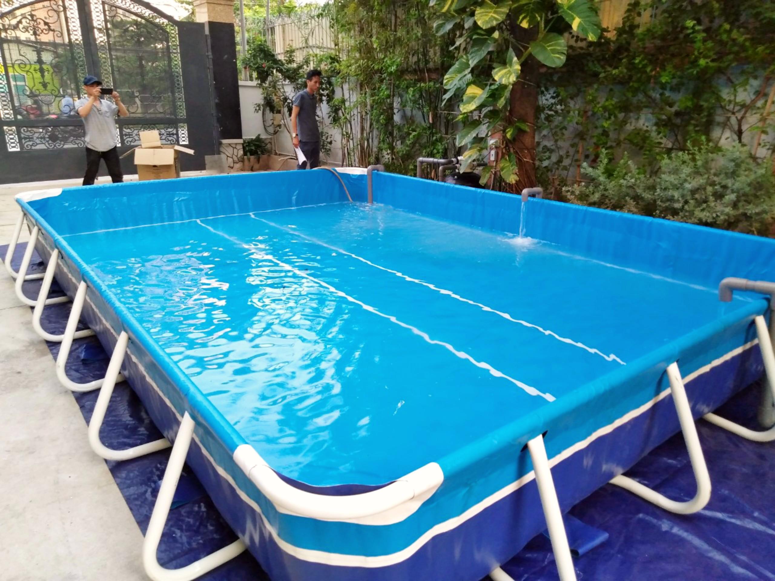 bể bơi khung kim loại lắp ghép