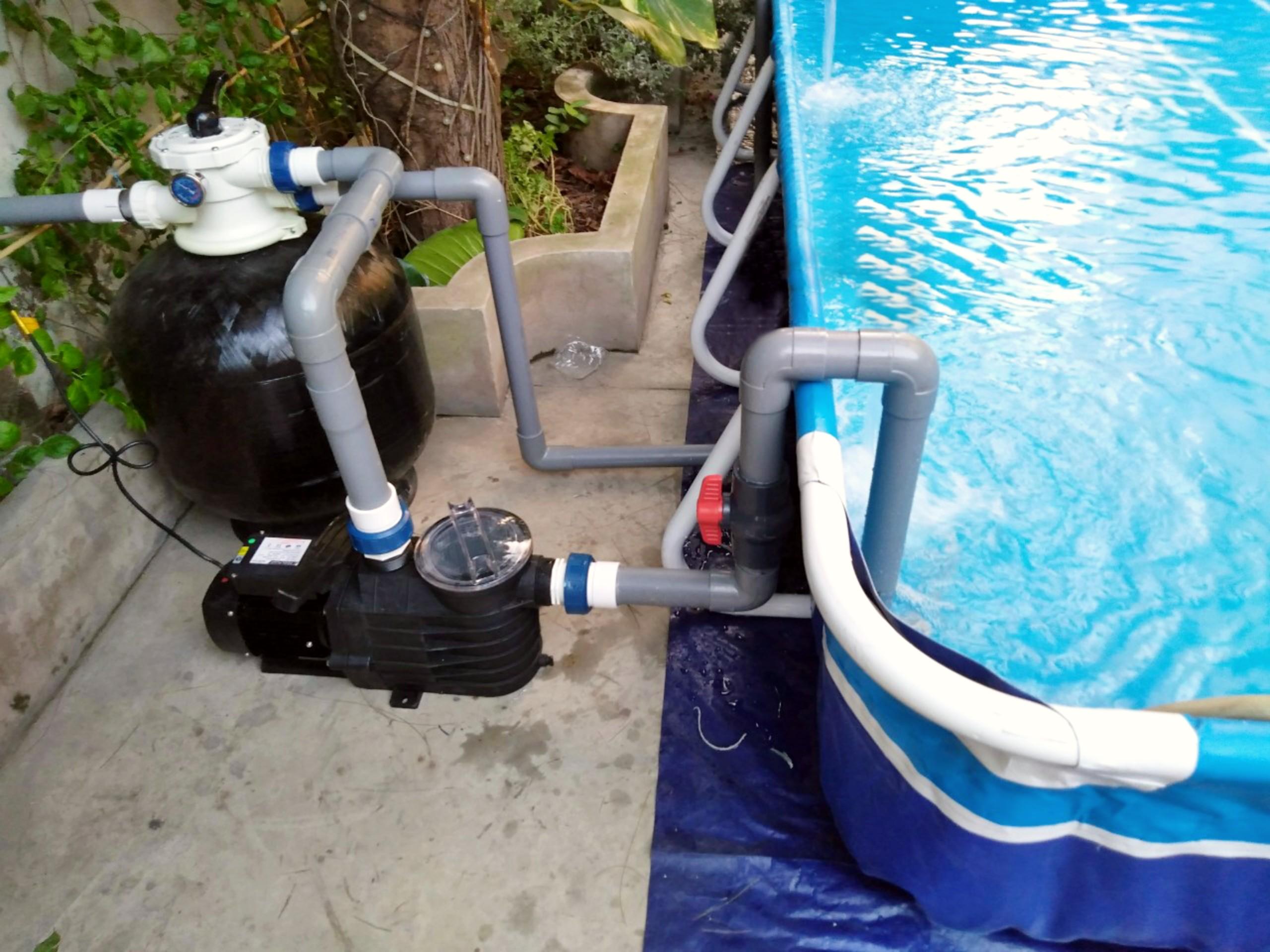 hệ thống lọc nước bể bơi lắp ghép