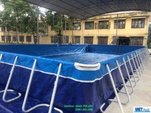 Thuỳ Linh : Lắp đặt bể bơi thông minh trường học Việt Pools tại Bắc Giang 2020 1