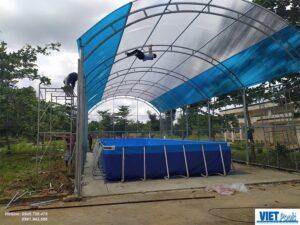 Thuỳ Linh : Lắp đặt bể bơi thông minh trường học Việt Pools tại Bắc Giang 2020 2
